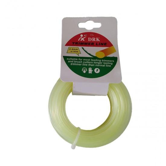 Guta pentru motocoasa din plastic DRK 2.4 mm -galben-deschis