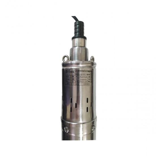 Pompa submersibila DRK QGD2-140, inox, apa curata, 750W, cu racire pe ulei, diametru 80mm