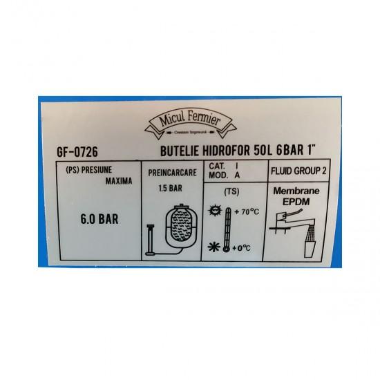 Butelie hidrofor de 50L GF07260