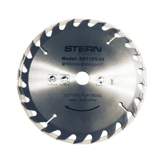 Disc taiere aluminiu ferastrau circular Stern 185mm SBT185/24