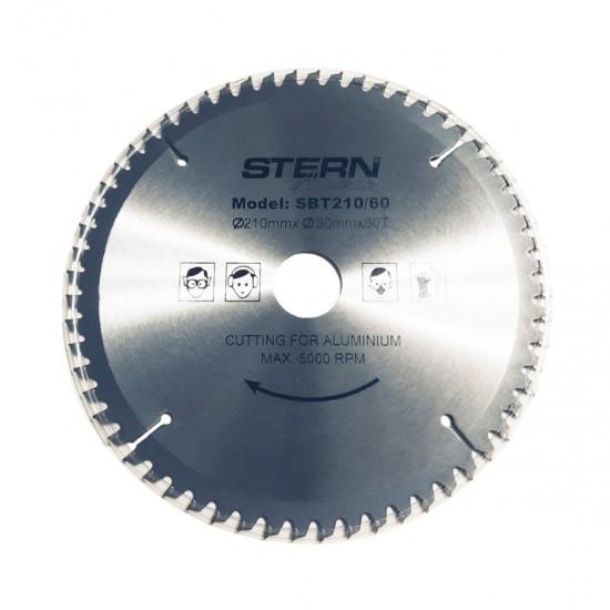 Disc taiere aluminiu ferastrau circular Stern 210mm SBT210/60