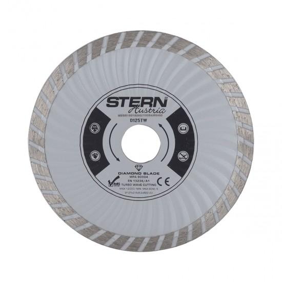 Disc diamantat turbo Stern D125TW, 125 mm