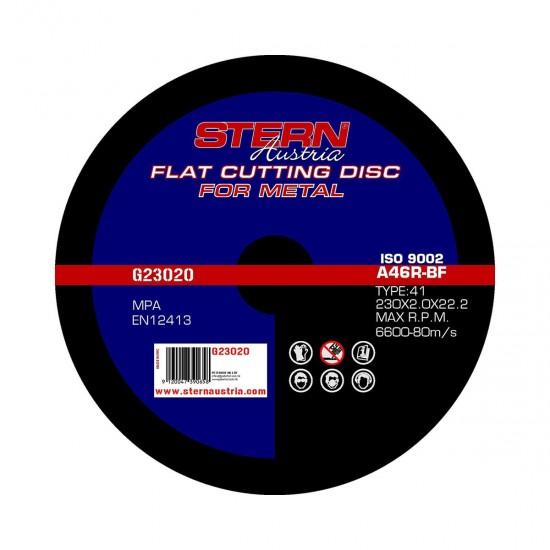 Disc taiere metal pentru polizor unghiular Stern 230mm G23020